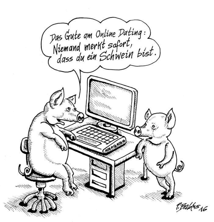 Karikaturen über Online-Dating Was tun, wenn Ihre Datierung jemand, aber wie jemand anderen